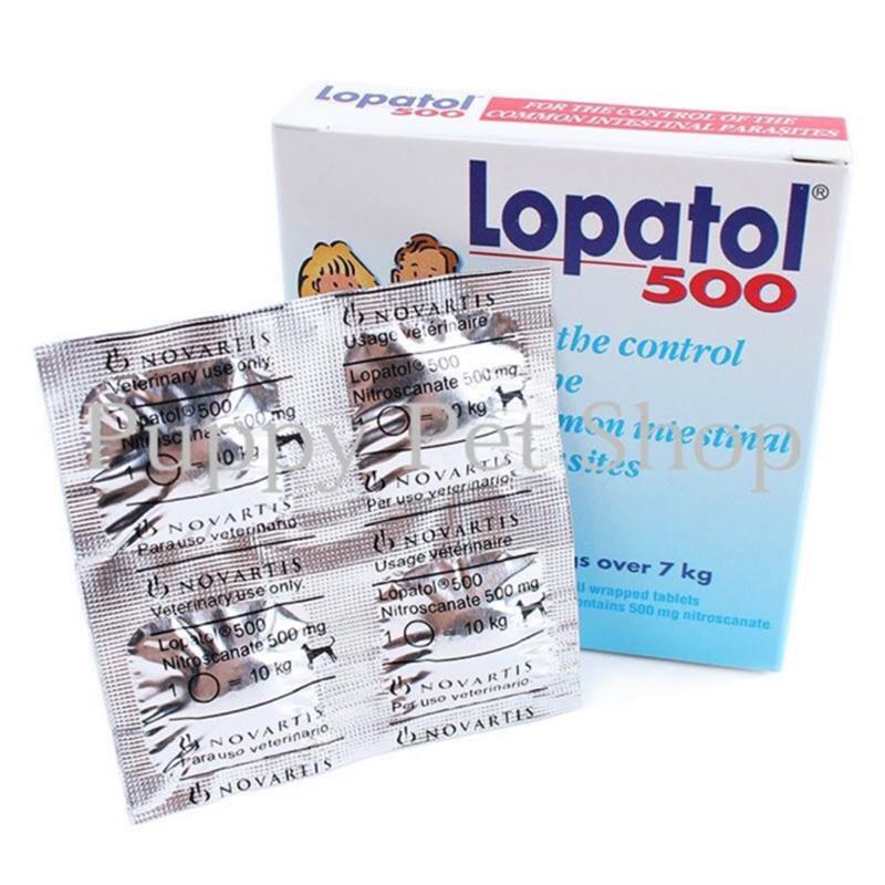 Thuốc tẩy giun sán cho chó nhỏ - LOPATOL 100, 500 Hộp 6 viên