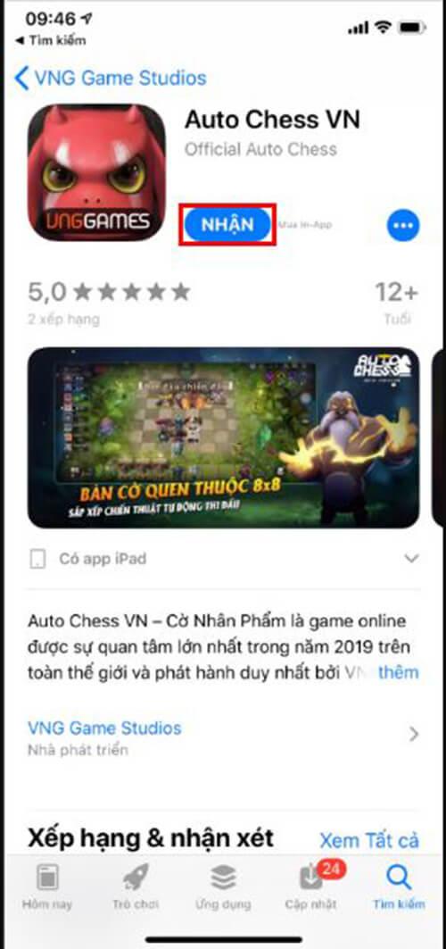 Tải auto chess mobile trên ios