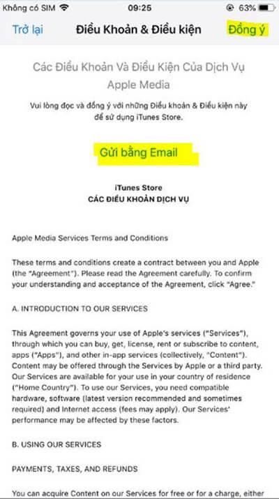 Thay đổi vùng App Store 3