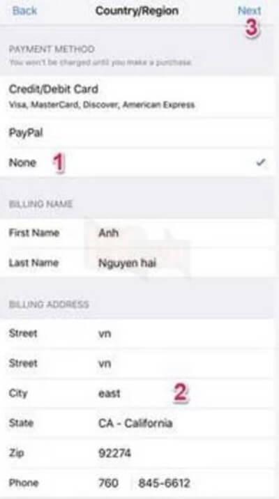 Thay đổi vùng App Store 4
